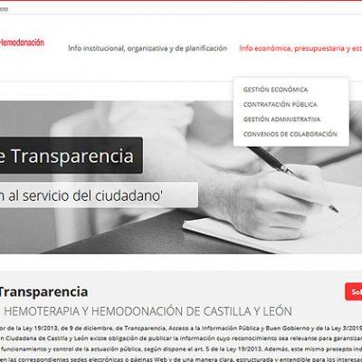 Portal de Transparencia del Centro de Hemoterapia CYL